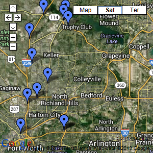 Ft. Worth Area Map