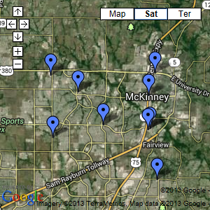 McKinney Area Map