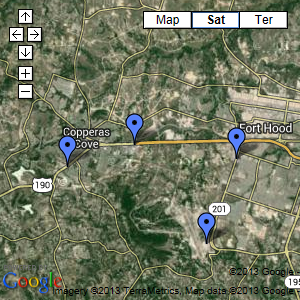 Copperas Cove Area Map
