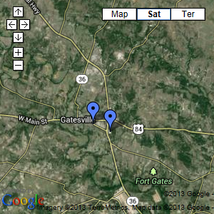 Gatesville Area Map